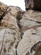 Rock Climbing Photo: Looking up at pitch 1.