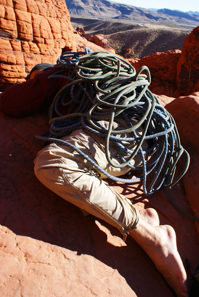 Rock Climbing Photo: Nap Time.