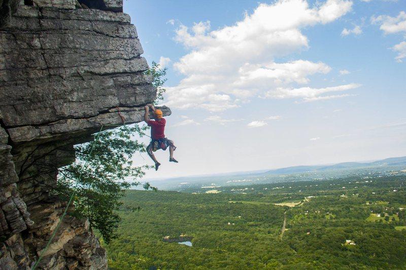 Rock Climbing Photo: Me doing the dangler move