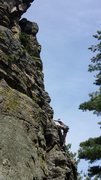 Rock Climbing Photo: Me leading Air!