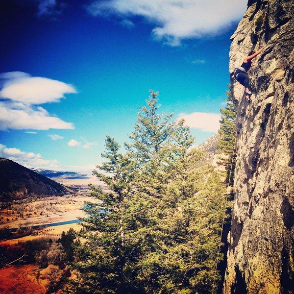 Rock Climbing Photo: High up
