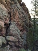 Rock Climbing Photo: The West Chimney (AKA: West Face) is the gaping sy...