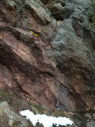 Rock Climbing Photo: The short boulder problem start to Huecool, with t...