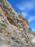 Rock Climbing Photo: Dave starts up P3.