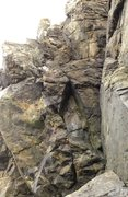 Rock Climbing Photo: The North Pinnacle, looking past Low Tide Crack. P...