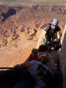 Rock Climbing Photo: Halfway up Castleton with Dustin Clelen, Barb Ande...