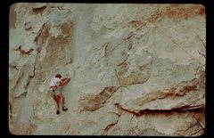 "Rock Climbing Photo: DE on the FA during the ""Acid Traverse.""..."
