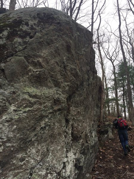 Left base of Main wall pointing in direction of right traverse