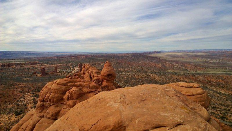 Rock Climbing Photo: Balanced Rock looks tiny from the top