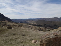 Rock Climbing Photo: View South down the Okanogan Valley from Lower Cra...