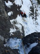 Rock Climbing Photo: Halfway up pitch one.