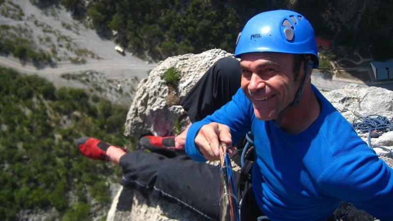 Chad Parker on the Summit of Dope Ninja 5.10b