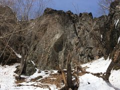 Rock Climbing Photo: The Summit Cliff early on in the year