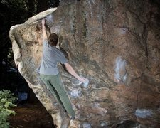 Rock Climbing Photo: Uncivilized V8 in Newlin Creek