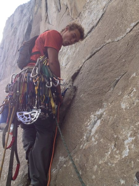 Rock Climbing Photo: Hooking on the trip