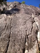 Rock Climbing Photo: The left side of Main Wall.  Crack Machine on the ...