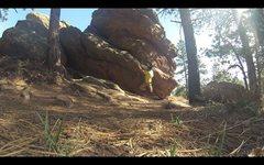 Rock Climbing Photo: Halfway across.