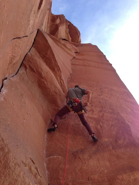Myself on the os of Power Paws.  Power Play is the crack to the left.