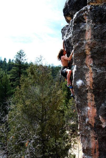 Rock Climbing Photo: Pablo on Aggro Arete