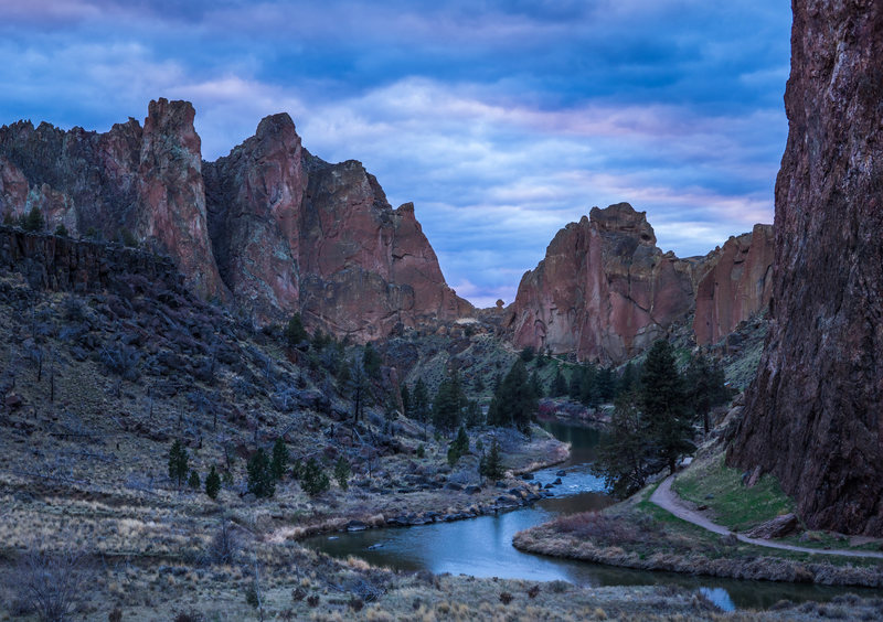 Smith Rock Sunset in February
