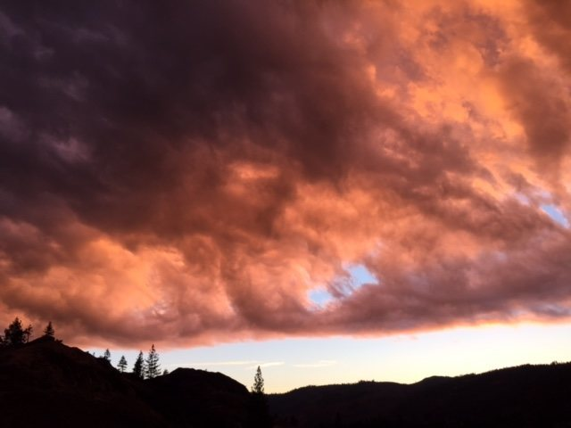 spring storm coming in over bowman valley, ca