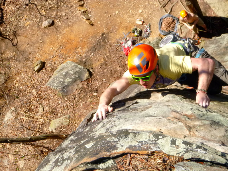 Rock Climbing Photo: climber on old foot