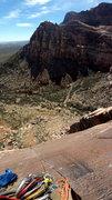 Rock Climbing Photo: Top of P5 pano