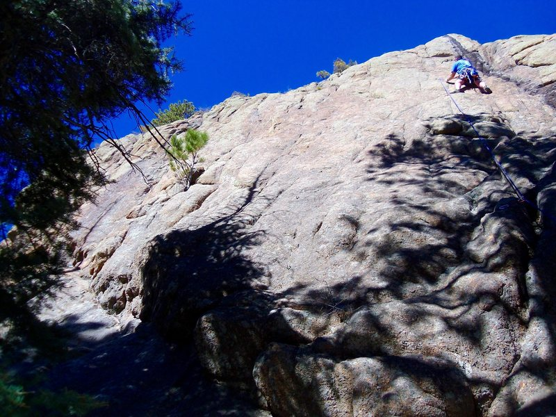 Rock Climbing Photo: Hurricane Wall - view from right side. Climber is ...