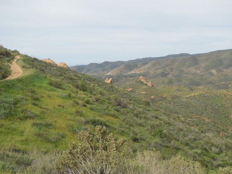 Rock Climbing Photo: The verdant green hills surrounding Texas Canyon.