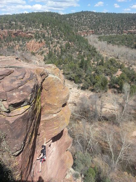 Rock Climbing Photo: JB on los amigo.