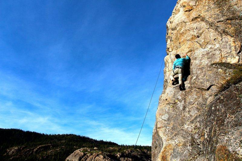 Rock Climbing Photo: TR on the Gum Drop Arete