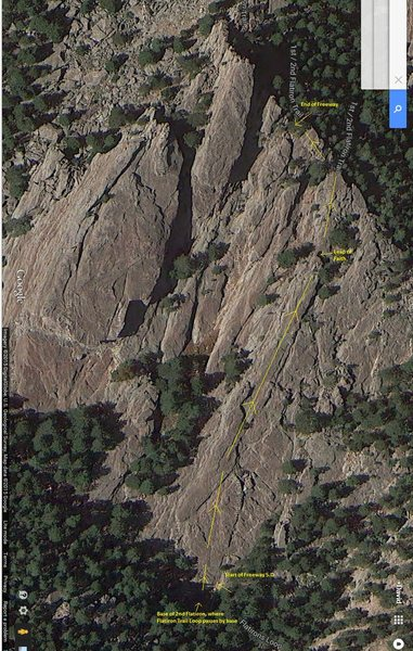Rock Climbing Photo: General directions for Freeway. There's a lot of o...