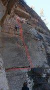Rock Climbing Photo: Lauren making quick work of Deercamp.