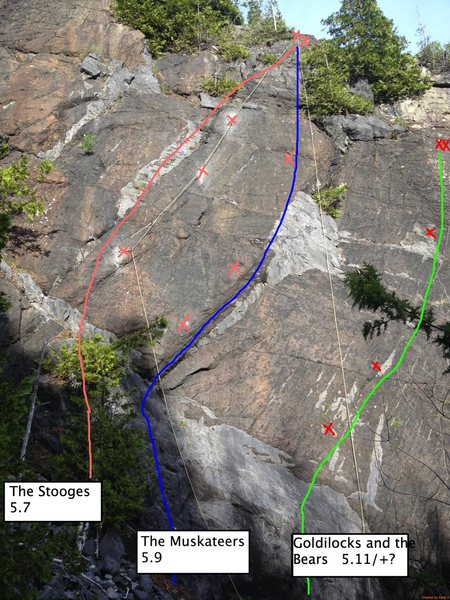Rock Climbing Photo: left most route