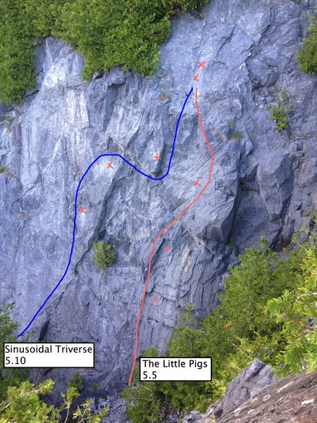 Rock Climbing Photo: 2nd route from the right