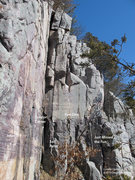Rock Climbing Photo: A few of the routes