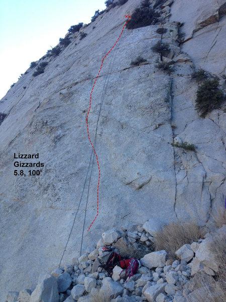Lizard Gizzards slab climb. PSOM slab, Pine Creek, CA