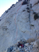 Rock Climbing Photo: Lizard Gizzards slab climb. PSOM slab, Pine Creek,...