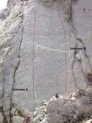 Rock Climbing Photo: Unknown A, 5.10b sport route, PSOM slab, Pine Cree...