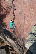 Rock Climbing Photo: Coiled for the strike