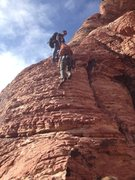 Rock Climbing Photo: Approach, (or deproach) to oasis