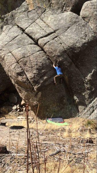 Rock Climbing Photo: Michael Madsen climbing Parallel Universe.