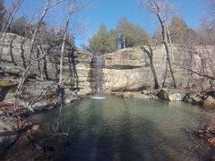 Rock Climbing Photo: The main falls at Jackson Falls Illinois