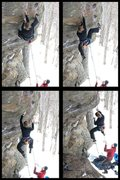 Rock Climbing Photo: torie whipping on her onsight attempt... a solid e...