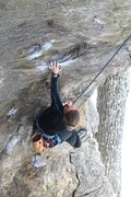 Rock Climbing Photo: torie killing the opening boulder problem
