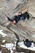 Rock Climbing Photo: Torie clipping on Attu