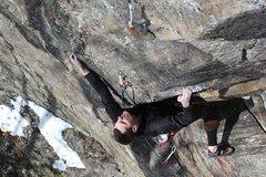 Rock Climbing Photo: Jeff on Attu