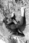 Rock Climbing Photo: jeff nearing the top of Attu... pumped