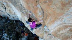 Rock Climbing Photo: Zach entering the crux.