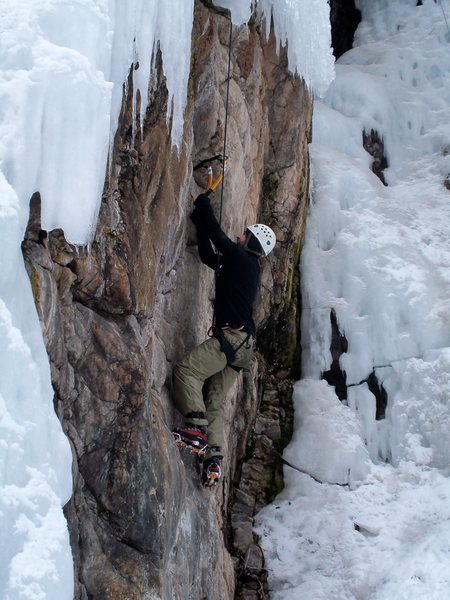 Rock Climbing Photo: Mixed climbing at the Ouray Ice Park